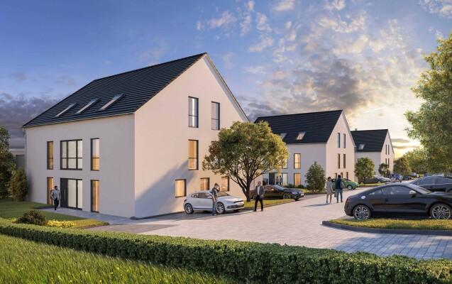 Neubau von 3 Mehrfamilienhäusern, Nittendorf