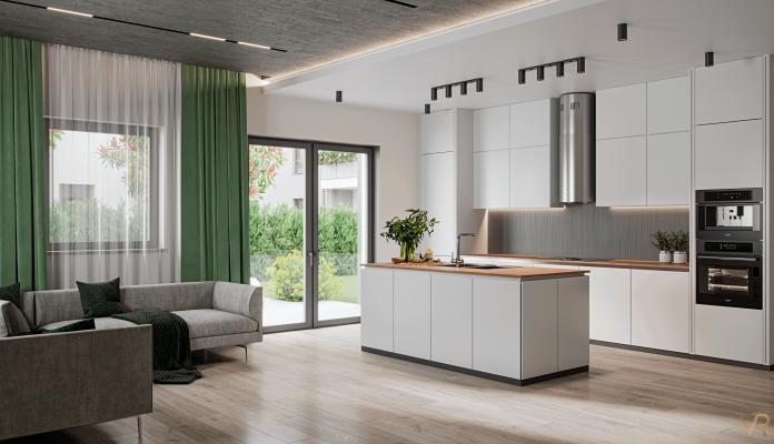 Interior visualization of a kitchen, Munich