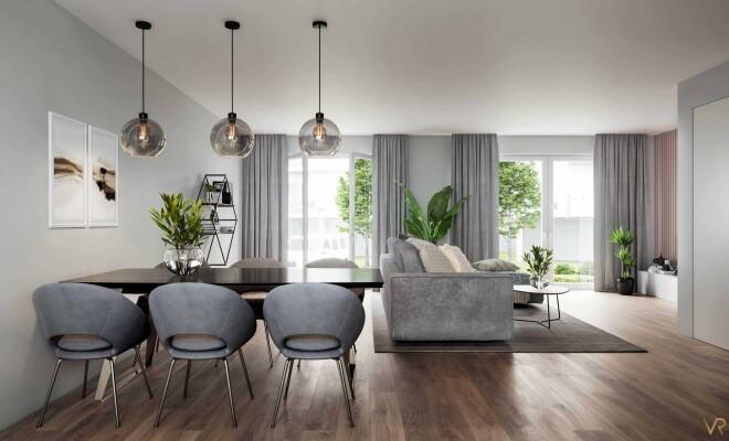 Interior visualization of a living room, Heimertingen