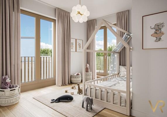 Innenraumvisualiserung eines Kinderzimmers, Obermenzing
