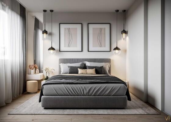 Interior visualization of a bedroom, Heimertingen