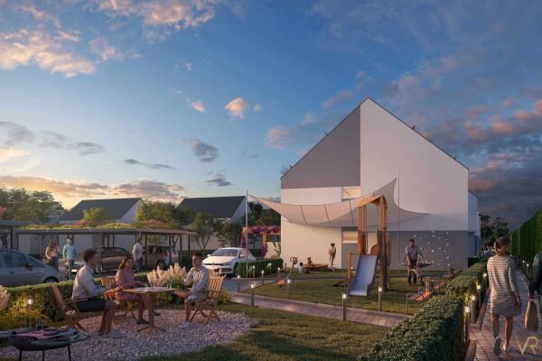 New construction of 10 terraced houses, Rödermark