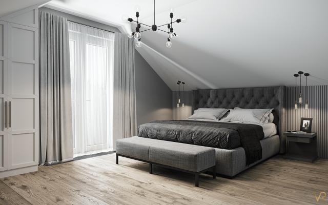 Interior visualization of a bedroom, Munich