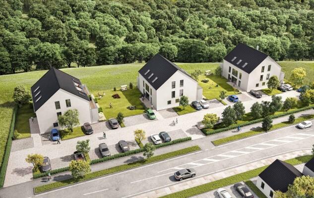 New construction of 3 multi-family houses, Nittendorf
